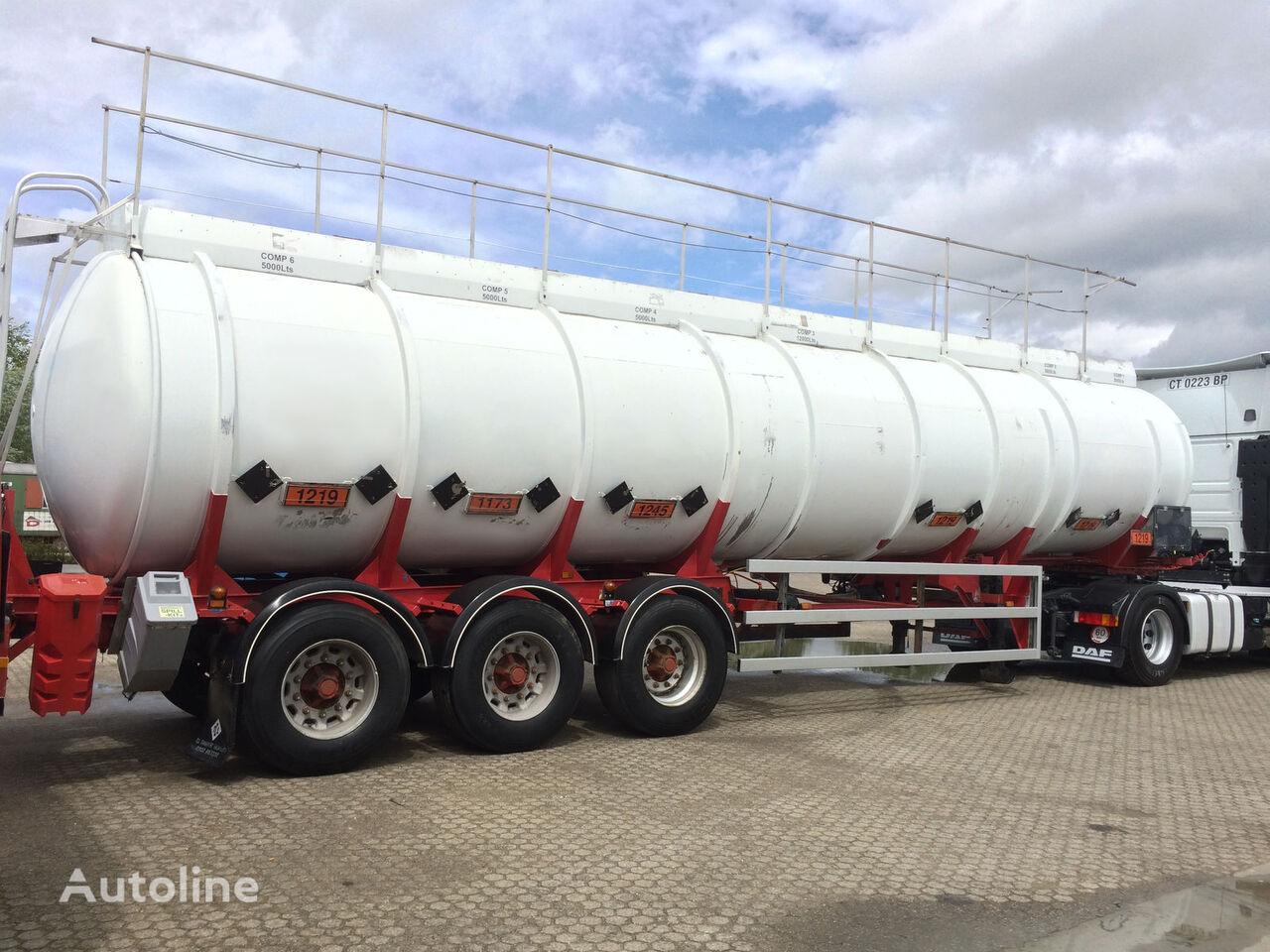 CLAYTON Fuel - 37.000 ltr - 6 brandstoftank oplegger