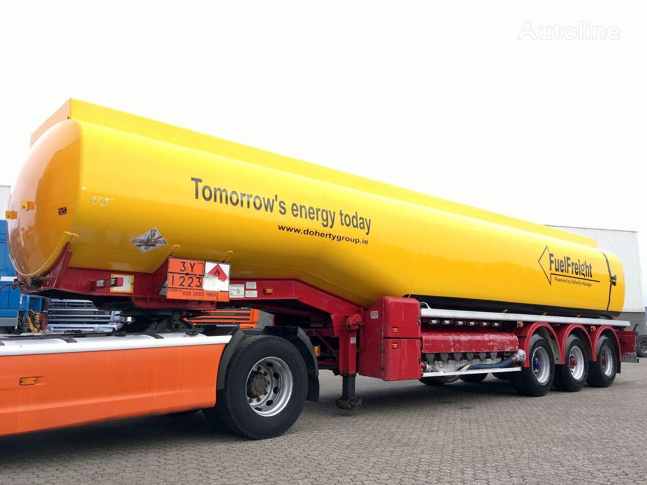 CRANE FRUEHAUF Fuel Alu tank 40.000ltr - 6k brandstoftank oplegger