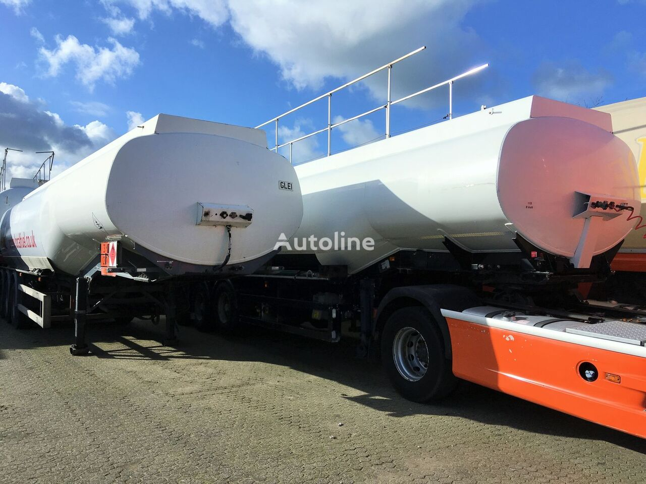 FRUEHAUF Fuel 40.400 ltr Benzin-Diesel LGBF brandstoftank oplegger
