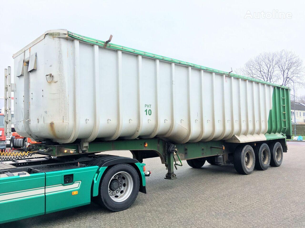 Kipper - Fruehauf 49m3 ALU/Steel - Cover graantruck oplegger