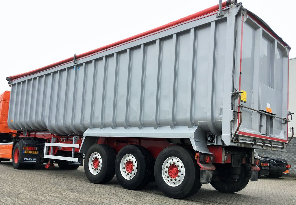 WILCOX Alu Tipper + steel chassis 54m3 + Cover graantruck oplegger