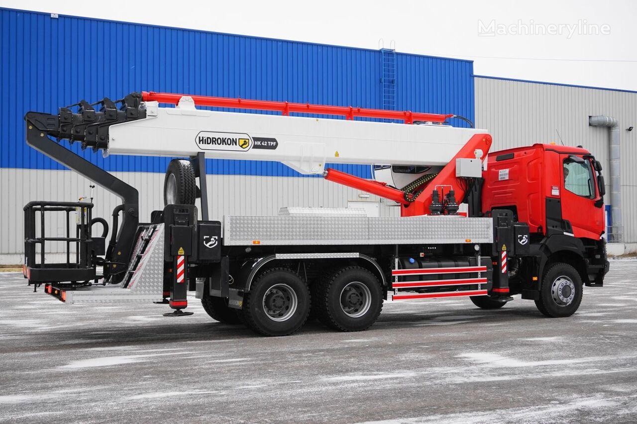 nieuw HIDROKON HK 42 TPF na shassi RENAULT K380 6x6 autohoogwerker