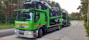 RENAULT Premium 410 autotransporter + autotransporter aanhanger