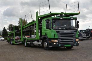 SCANIA P 380 autotransporter + autotransporter aanhanger