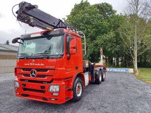 MERCEDES-BENZ Actros 3360 -6x4-hiab crane-steel suspension-alcoa houtvrachtwagen