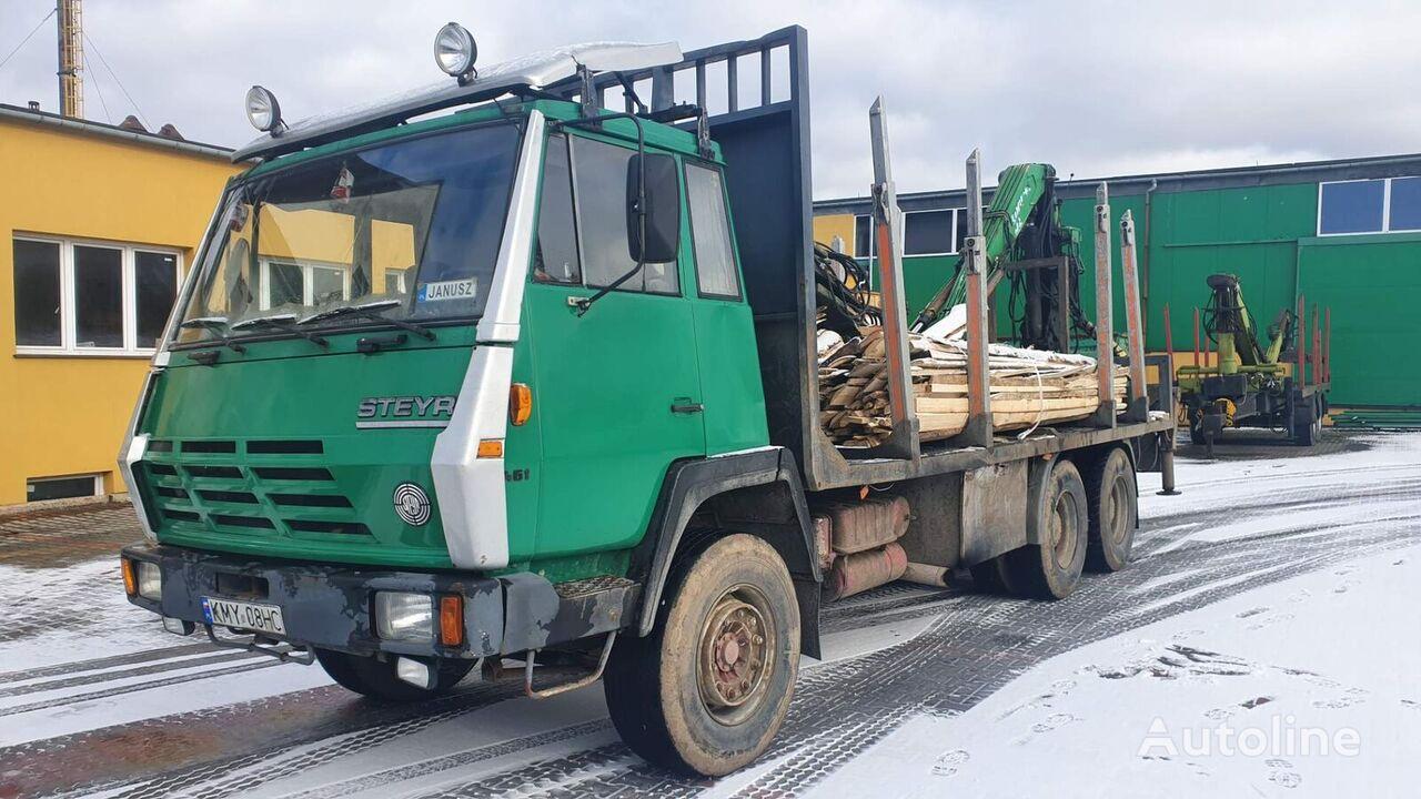 STEYR 1491 houtvrachtwagen