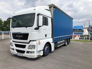 MAN TGX 24.440 flatbed huifzeilen vrachtwagen