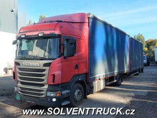 SCANIA R400,Euro 5, Automat huifzeilen vrachtwagen + huif aanhanger