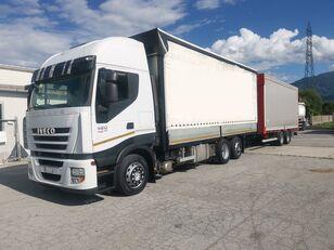 IVECO Iveco Stralis 420 huifzeilen vrachtwagen + huif aanhanger
