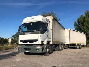 RENAULT PREMIUM 420 DCI + biga Omar + rimorchio centinato huifzeilen vrachtwagen