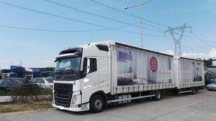VOLVO fh 420 EURO 6 huifzeilen vrachtwagen + huif aanhanger