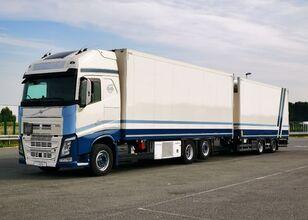 VOLVO Tandem chłodnia thermo king dopelstock 2013 schmitz koelwagen vrachtwagen + koelwagen aanhanger