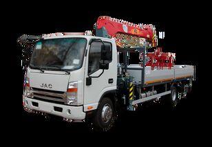 nieuw JAC Бортовой автомобиль с КМУ FG-414 open laadbak vrachtwagen