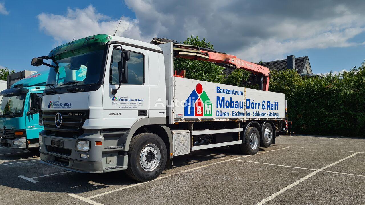 MERCEDES-BENZ Actros 2544 6x2 Pritsche  Kran Fassi F185 open laadbak vrachtwagen