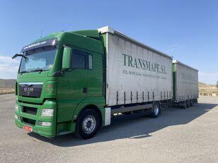MAN TGX 18.440 schuifzeilen vrachtwagen + schuifzeil aanhanger