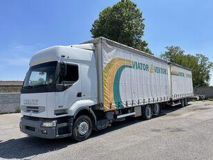 RENAULT Premium 420 schuifzeilen vrachtwagen + schuifzeil aanhanger